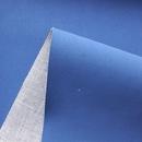 现货供应BK9160蓝色拉米PU磨砂真皮绒皮革十磅TC灰布底