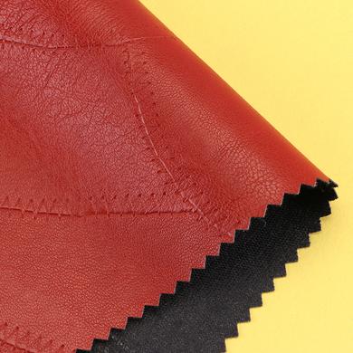 众联皮塑 现货供应 pu 0.6mm 人棉底 服装革