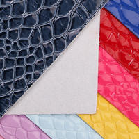精品面料PVC鳄鱼纹针织拉毛1.1mm用于箱包手袋鞋革