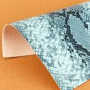 现货供应蛇纹PU革 厚度0.7mm 适用于:箱包手袋、手袋等